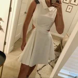 Vintage Nasty Gal White Cut Out Dress